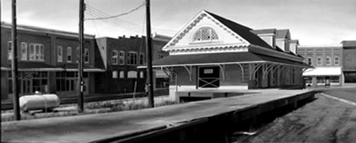 &quot;Station in Orange&quot;  oil 24&quot; x 60&quot;  by William Sullivan